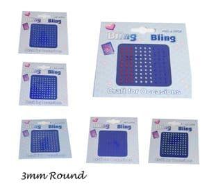 C0296 Bling Bling: Diamantes: 3mm - Full Colour Range