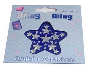 C0300CL Bling Bling: Diamantes: Stars - Assorted Sizes