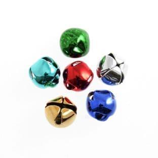 CB030A Bells: Jingle: 8mm: Assorted: 6 Pack