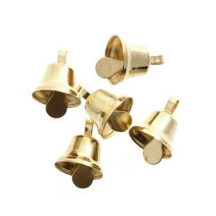 CB031 Bells: Liberty: 10mm: Gold: 6 Pack