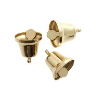 CB032 Bells: Liberty: 14mm: Gold: 5 Pack
