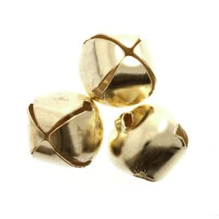 CB036 Bells: Jingle: 12mm: Gold: 8 Pack