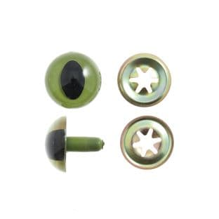 CE15.GRN Toy Eyes: Cats: 15mm: Green