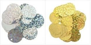 CF01\0100 Sequins: Flat Holographic: 20mm - Full Colour/Pack Range