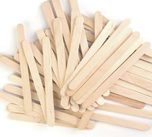 CF161 Wooden Sticks: Natural: Pack of 100