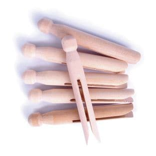 CF177 Pegs: Wooden: Dolly: Pack of 6