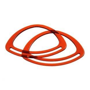 CFH2\AMB Bag Handles: Oval: 11cm: Amber