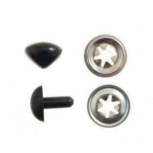 CN12 Toy Noses: Cats: 12mm: Black: 100 Pack