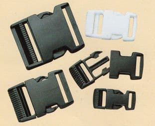 CN900 Plastic Slide Release Buckle:  Choice of Size