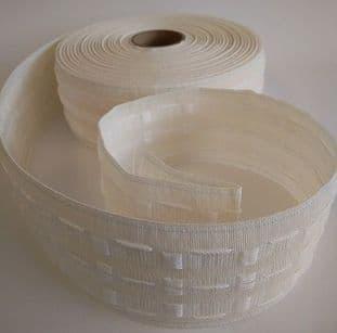 """E00026 75mm/3"""" Curtain Tape Bumper Pack - White - 500m"""