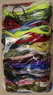 E00154 3mm Ribbon Assortment Bundle 100 x 3m Hanks