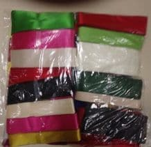 E00157 Satin Ribbon Assortment Bundle 100 x 3m Hanks