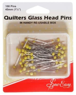 ER308 Pins: Quilters, Glass Head: 50mm - Sew Easy