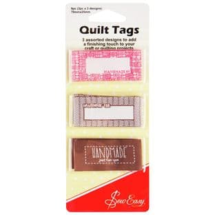 ER992 Sew Easy Quilt Tags: Handmade