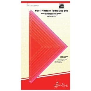 ERGG08.PNK Template Set: 9 Piece Triangular