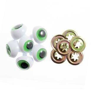 FE24 Toy Eyes: Frogs: 24mm: Green