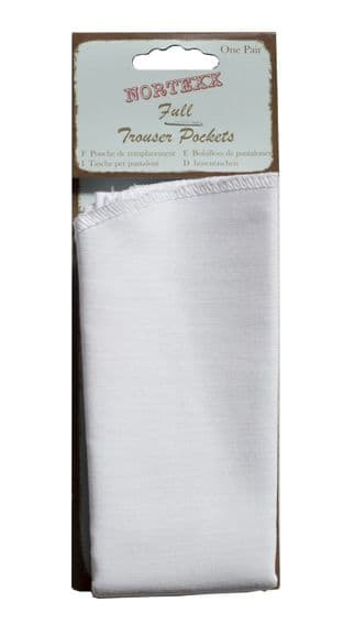 FLC/1 Sew-In Pocket Repair: Full Length - Cotton - White
