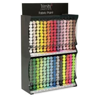 FP20STD Trimits: Fabric Paint Pen Stand: 28 Colours