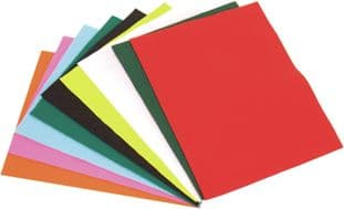 FPP2 Felt: Acrylic: 10 Piece: 23 x 30cm: Assorted Colours