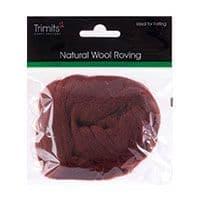 FW10.306 Natural Wool Roving: 10g : Chocolate