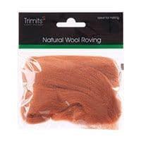 FW10.313 Natural Wool Roving: 10g : Beige