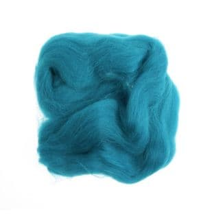 FW10.315 Natural Wool Roving: 10g : Turquoise