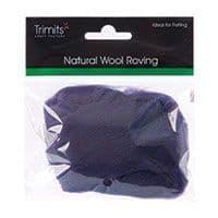 FW10.316 Natural Wool Roving: 10g : Plum