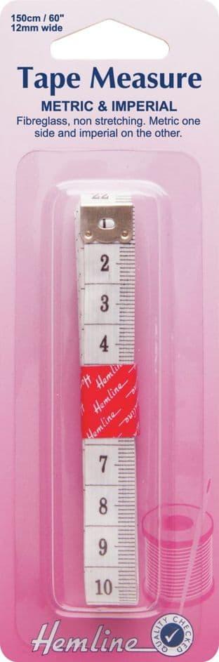 H251 Tape Measure: Metric/Imperial - 150cm
