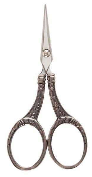 H340 Scissors: Embroidery: Pro Cut: Antique Silver: 10.8cm/4.25in
