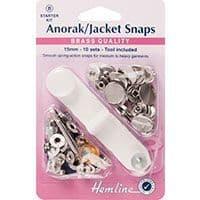 H407S.N Anorak Snaps: Nickel - 15mm