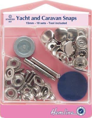 H409.NK Yacht and Caravan Snaps Starter Sets - Nickel