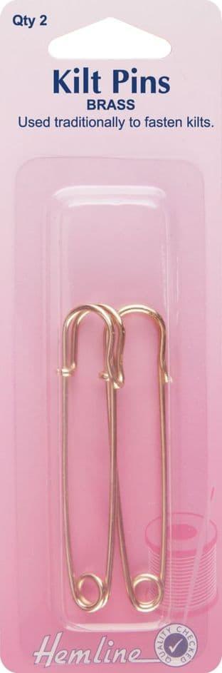 H411 Kilt Pins: 65mm - Gold - 2pcs