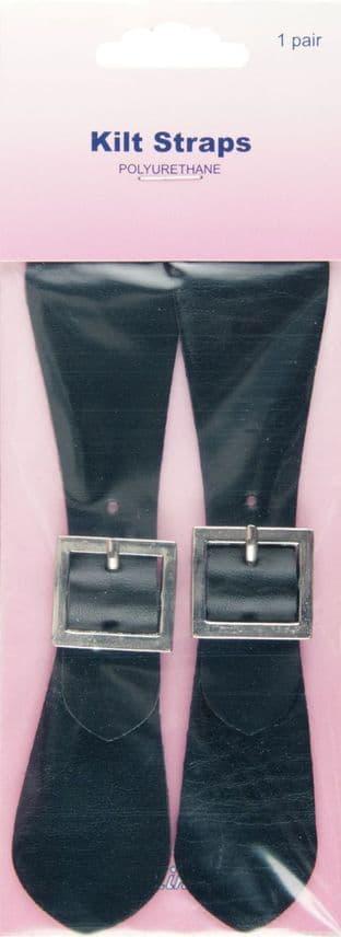 H411.BL Kilt Straps: Black