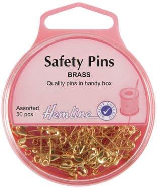 H419.99 Safety Pins: Brass - 19mm/23mm - 50pcs