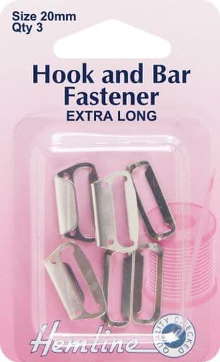 H433.20.N Hook and Bar Fastener: Nickel - 20mm