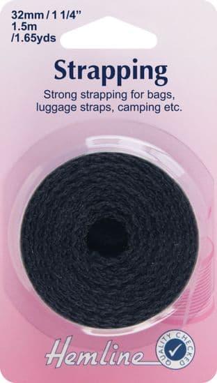 H450.32.B Strapping: Black: 32mm