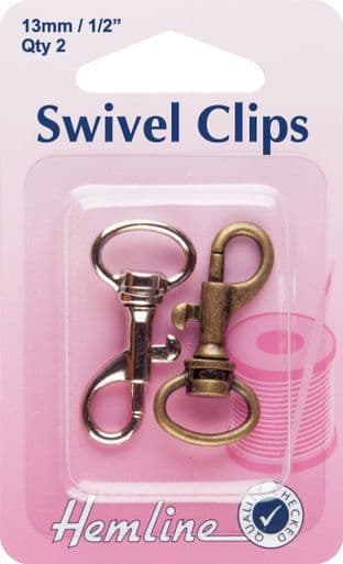 H453.13.A Swivel Clip: Bronze & Metal: 13mm: 2pk