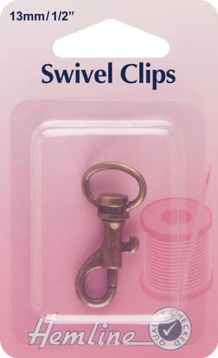 H482.13.B Swivel Clip: Bronze: 13mm