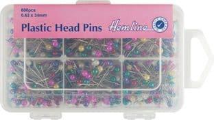 H668.600 Plastic Head Pins: Nickel - 34mm - 600pcs