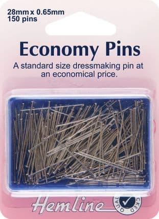 H670 Economy Pins: Nickel - 28mm - 150pcs