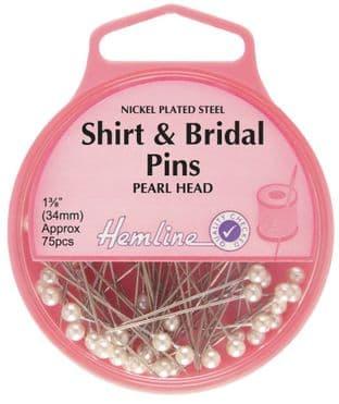 H676 Shirt and Bridal Pins: Nickel - 34mm, 75pcs