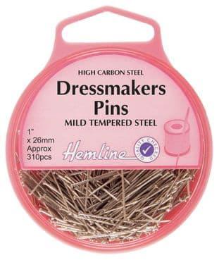 H700 Dressmaker Pins: Nickel: 26mm, 310pcs