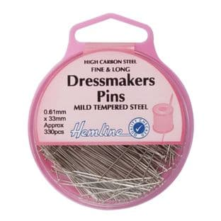 H701 Dressmaker Pin: Nickel - 30mm, 330pcs