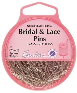 H702 Bridal and Lace Pins: Nickel - 25mm, 300pcs