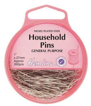 H705 Household Steel Pins: Nickel - 26mm, 260pcs