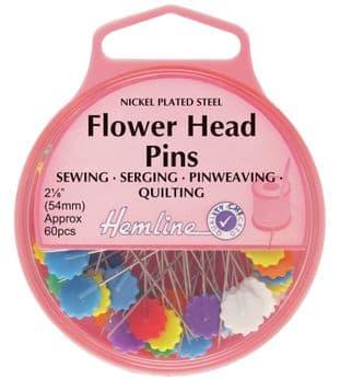 H707.P Flower/Flat Head Pins: Nickel - 54mm, 60pcs