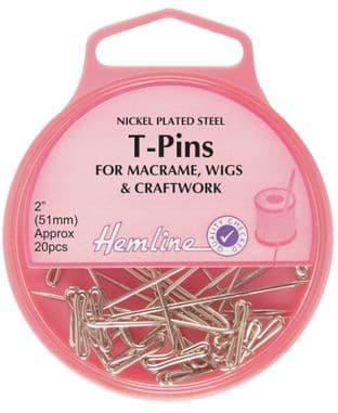 H709 T-Pins: Nickel - 51mm, 20pcs