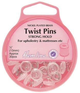 H710 Twist Pins: Nickel - 13mm, 30pcs