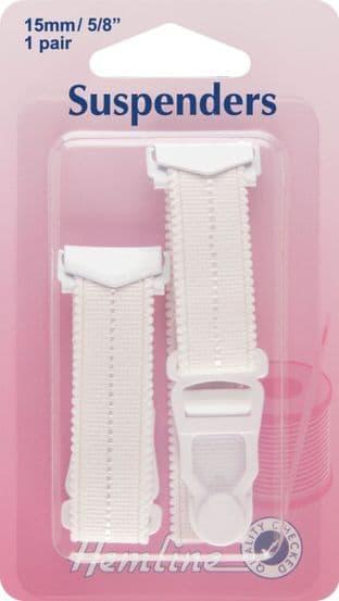 H775\WHT Suspenders: White - 15 x 170mm