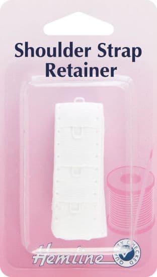 H776.W Shoulder Strap Retainer: White - 19mm